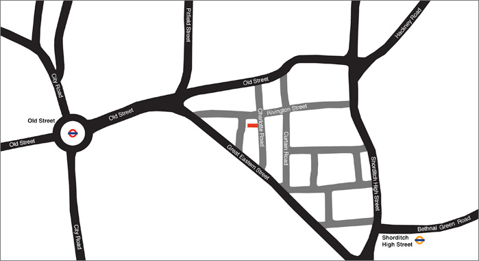 map to Azman Architects offices